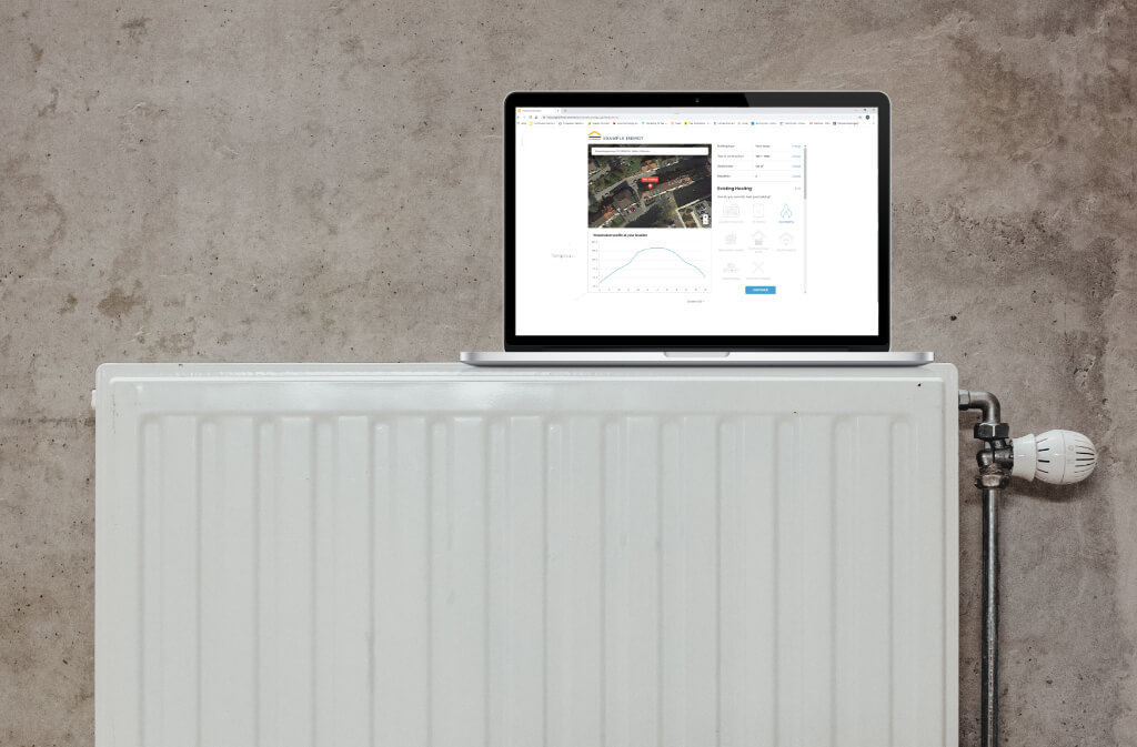 eturnity-heating-calculator-on-laptop-lying-on-heater